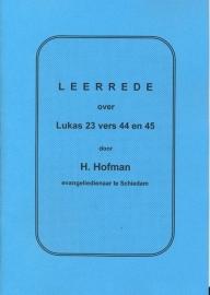 Hofman, Ds. H.-Leerrede over Lukas 23 vers 44 en 45
