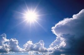Boven de zon