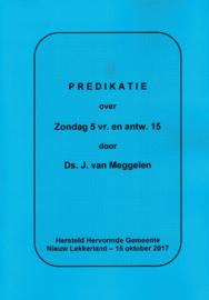 Meggelen, Ds. J. van-Predikatie over Zondag 5 vraag en antwoord 15 (nieuw)