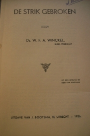 Winckel, Ds. W.F.A.-De strik gebroken