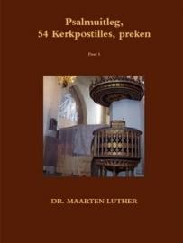 Luther, Dr. Maarten-Psalmuitleg, 54 Kerkpostilles, preken (deel 5) (nieuw)