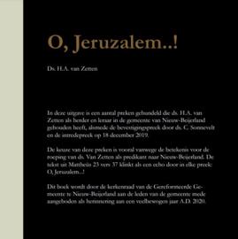Zetten, Ds. H.A. van-O, Jeruzalem..! (nieuw)
