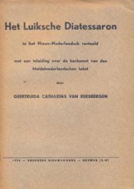 Kersbergen, Geertruida Catharina van-Het Luiksche Diatessaron