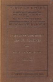 Veldhuizen, Prof. Dr. A. van-Paulus en zijn brief aan de Romeinen