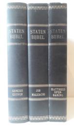 Keur-Driedelige Statenbijbel met kanttekeningen (groot formaat)