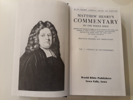 Henry, Matthew-A Commentary on the Whole Bible