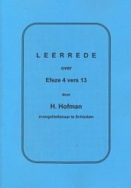 Hofman, Ds. H.-Drie Leerredenen over Efeze 4 vers 13 t/m 15