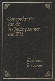 Pieper, J.W. en Coops, J.M.-Concordantie van de berijmde psalmen van 1773