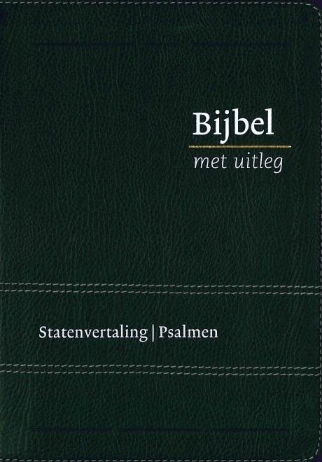 Bijbel met uitleg in Statenvertaling-Flexibele band, zwart, midden formaat (nieuw)