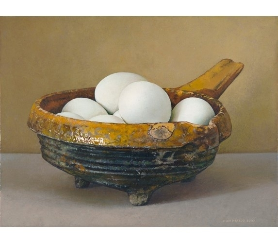 Piet den Hertog-Wenskaart Testje met eieren
