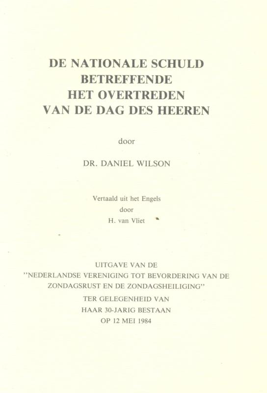 Dr Daniel Wilson De Nationale Schuld