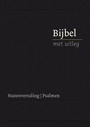 Bijbel met uitleg in Statenvertaling-Harde band, zwart, midden formaat (nieuw)