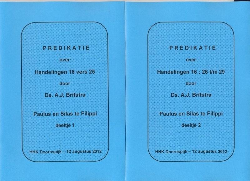 Britstra, Ds. A.J.-Vier predikaties over de stokbewaarder (nieuw)