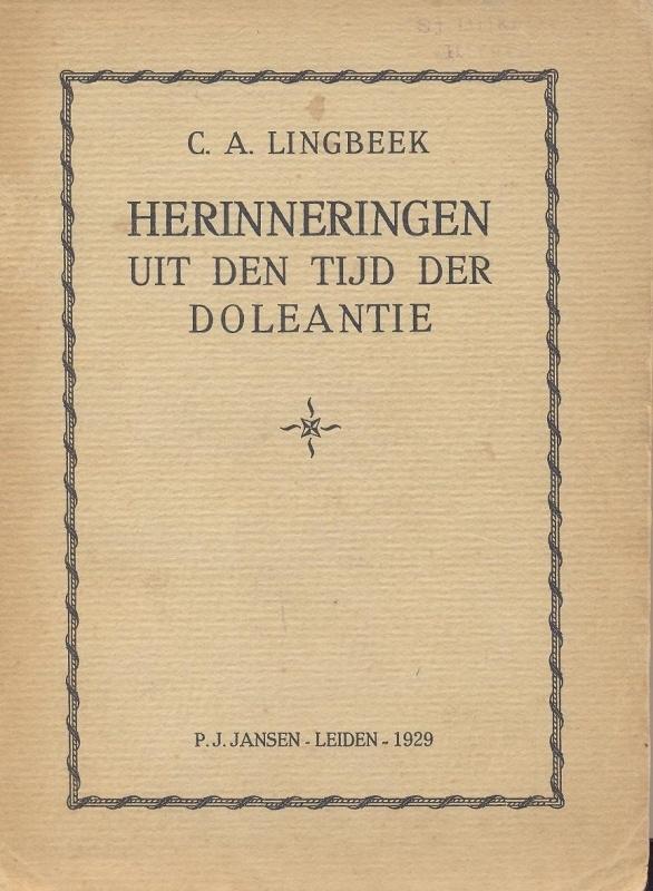 Lingbeek, C.A.-Herinneringen uit den tijd der Doleantie