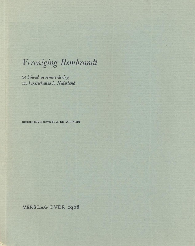- Vereniging Rembrandt-Verslag over 1968