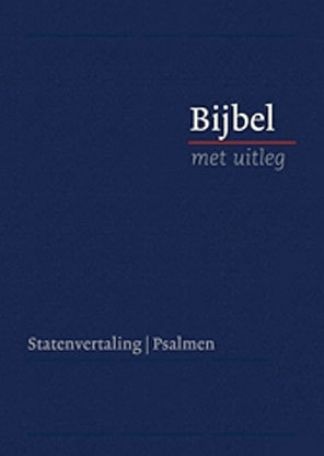 Bijbel met uitleg in Statenvertaling-Harde band, blauw, midden formaat (nieuw)