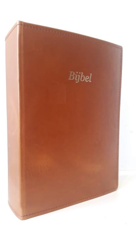 Nieuwe omslag Bijbel met uitleg - Echt leer