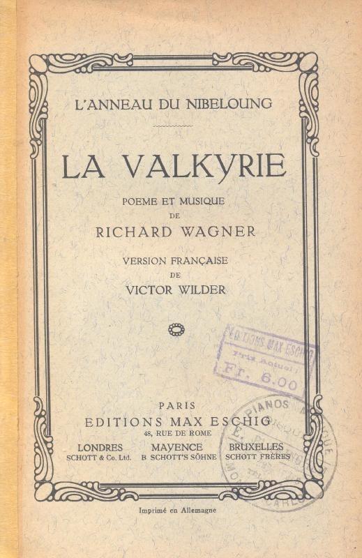 Wagner, Richard-La Valkyrie