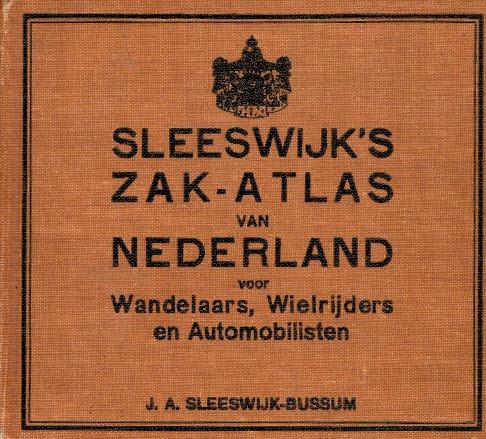 Sleeswijk, J.A.-Sleeswijk's zak-atlas van Nederland