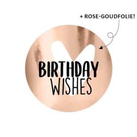 Cadeaustickers Birthday wishes | 10 stuks