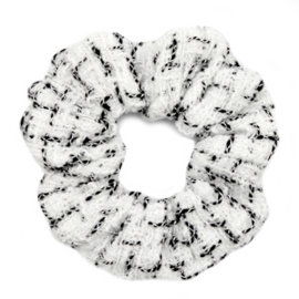 Scruncies haarelastiek | White & black.