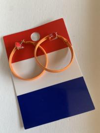 Oranje creolen | EK oorbellen | oorbellen voor Koningsdag
