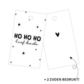 Cadeau label | HO HO HO LIEF KADO | 4 x 7 cm