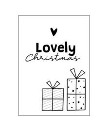 Wenskaart LOVELY CHRISTMAS |  10 x 15  cm