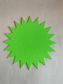 10 prijskaarten groene ster afmeting: 15 x 15 cm