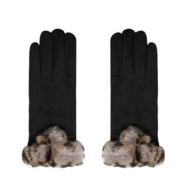 Warme, zachte zwarte handschoenen.