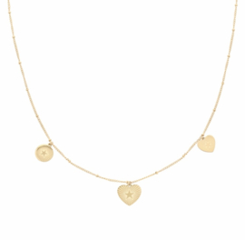 Necklace You're my Starr | goud.