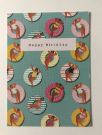Cadeaukaartje HAPPY BIRTHDAY