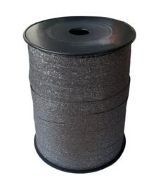 Antraciet glitter lint | 10 mm breed