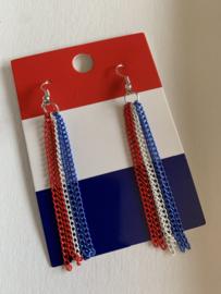 Rood-wit-blauwe oorbellen | EK oorbellen | oorbellen voor Koningsdag