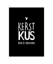 Wenskaart | KERST kus door de brievenbus | 10 x 15 cm