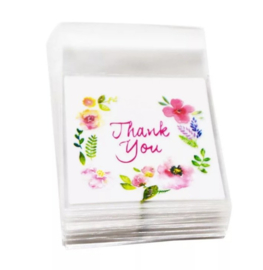 100 cadeauzakje THANK YOU  | 7 x 7 cm