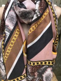 Prachtige sjaal met mooie kleuren.