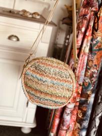 Trendy Roundie  bag met zomerse kleurtjes