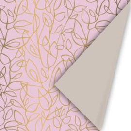 Cadeaupapier | dubbelzijdig taupe en roze