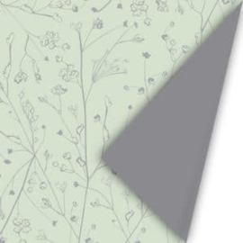 Cadeaupapier | dubbelzijdig mint-grijs