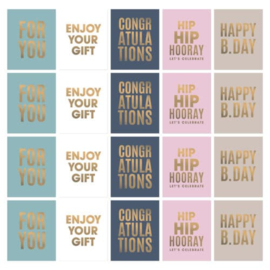 10 cadeaustickers | Spring pink
