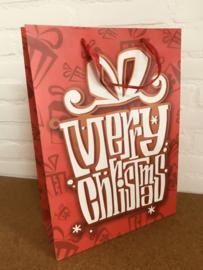 XXL cadeautas voor de Kerst met glitters.