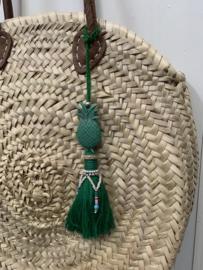 Groene hanger voor aan je tas.