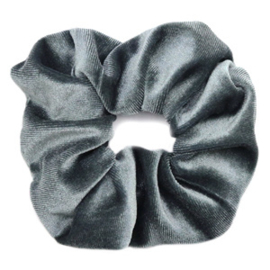 Scruncies haarelastiek | Velvet grey.
