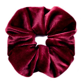 Scruncies haarelastiek | Velvet port red.