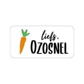 10 cadeaustickers    LIEFS, OZOSNEL