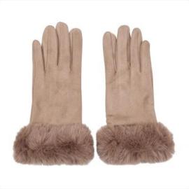 Heerlijke warme beige handschoenen.