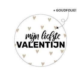 Cadeaustickers Mijn liefste Valentijn | 10 stuks