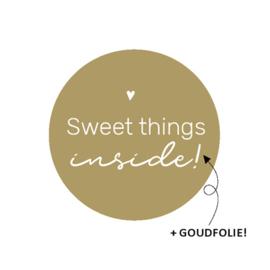 Cadeaustickers Sweet things inside | 10 stuks