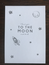 Cadeaukaart LOVE YOU TO THE MOON AND BACK